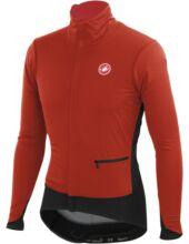 ALPHA JACKET férfi kerékpáros télikabát , piros/fekete - CASTELLI