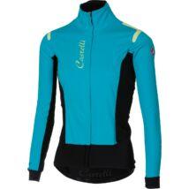 ALPHA ROS W JACKET női kerékpáros kabát, türkiz/fekete - CASTELLI