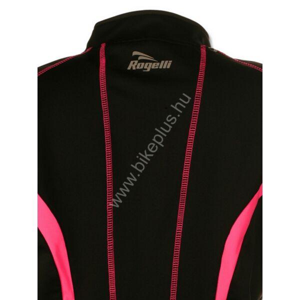 BARA női kerékpáros softshell téli kabát, feketerózsaszín ROGELLI