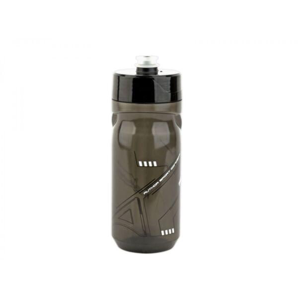 Kulacs AB-ScrewOn X9 600 ml, átlátszó fekete/ fehér - AUTHOR