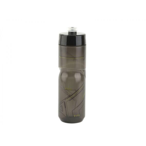 Kulacs AB-ScrewOn X9 800 ml, átlátszó fekete/fluorit sárga - AUTHOR