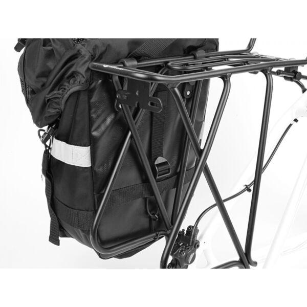 Csomagtartó táska A-N471  (fekete/ fekete fényvisszaverő fehér), - AUTHOR