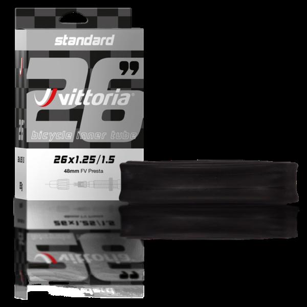"""Belső gumi STANDARD 29""""(40/52-622) x1.5/2.0 Szingó gumiszelepes(FV). 48mm dobozos - Vittoria"""