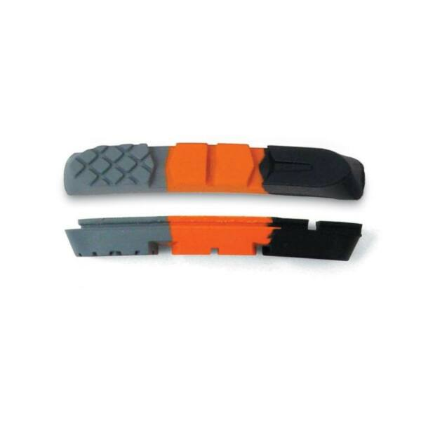 Fékbetétbe gumi ABS-3CC-P  (2 pár), fekete/ narancs/ szürke - AUTHOR