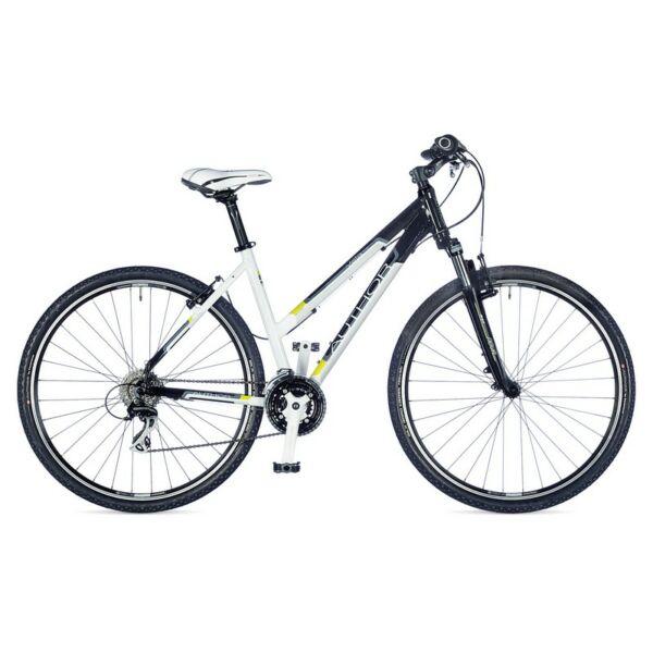 Vista női Cross kerékpár, fehér / fekete / lime zöld - AUTHOR