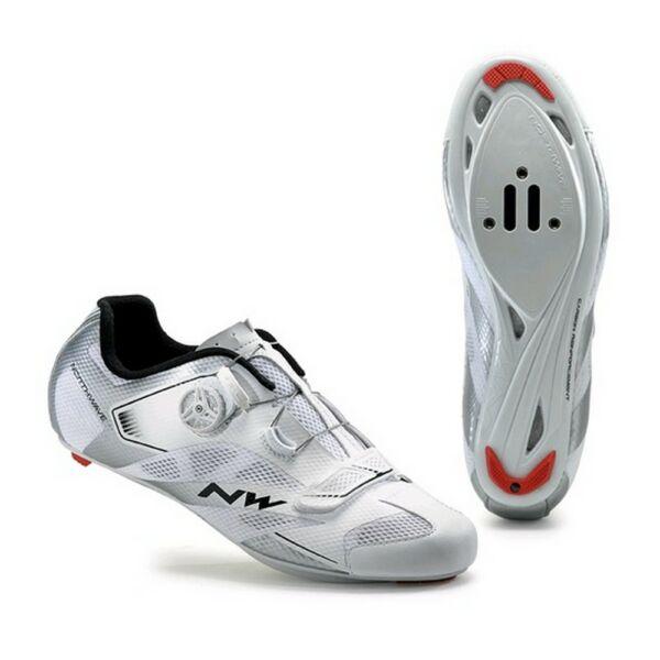 Cipő NORTHWAVE ROAD SONIC 2 PLUS 40 fehér-ezüst
