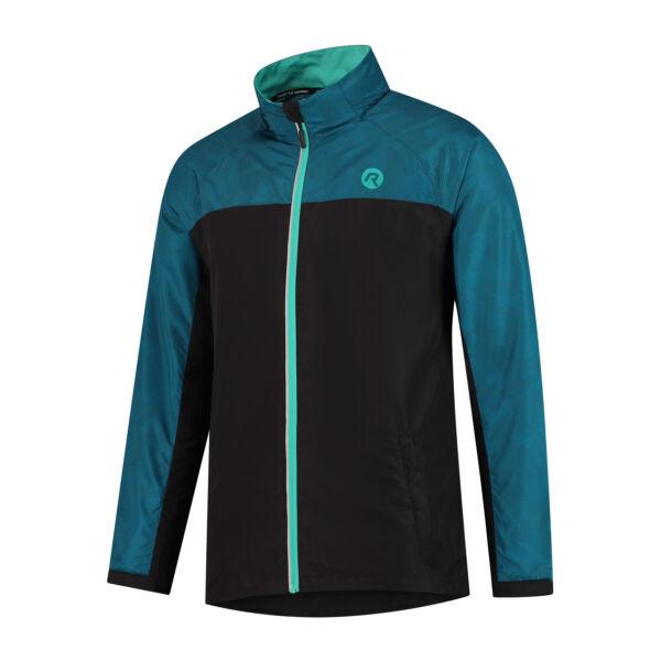 STEEL férfi futó szélkabát, fekete/kék - ROGELLI