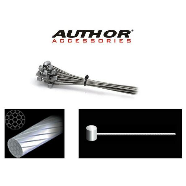 Fék bovden ABS-Lb MTB 1,5x2000mm (10db/csomag), ezüst - AUTHOR