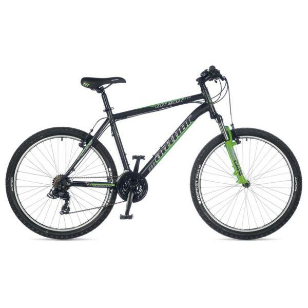 """Outset 26"""" MTB XC kerékpár, matt fekete/neonzöld - AUTHOR"""