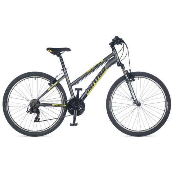 """Unica női 26"""" MTB kerékpár, matt szürke/lime - AUTHOR"""