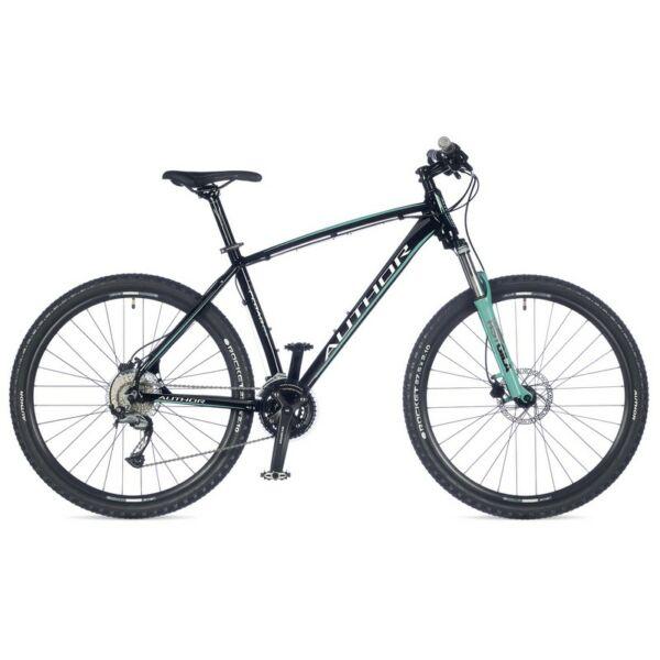 """Pegas 27"""" MTB XC kerékpár, fekete/zöld - AUTHOR"""