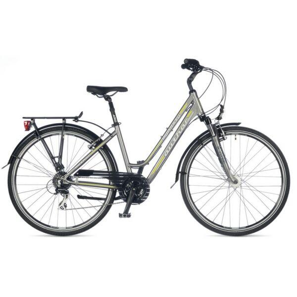 Dynasty touring kerékpár, ezüst/zöld - AUTHOR