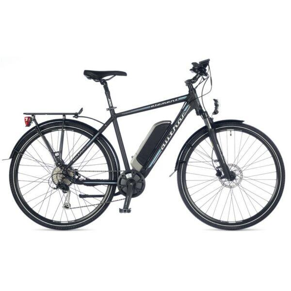 Element touring e-bike, matt fekete/kék - AUTHOR