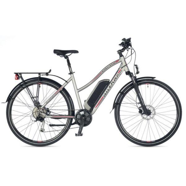 Electra touring e-bike, matt ezüst/piros - AUTHOR