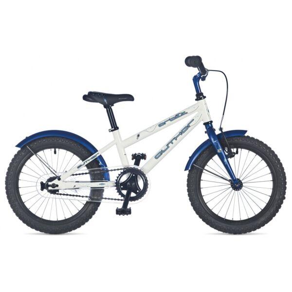 """Orbit fiú 16"""" gyerekkerékpár, fehér/sötétkék - AUTHOR"""