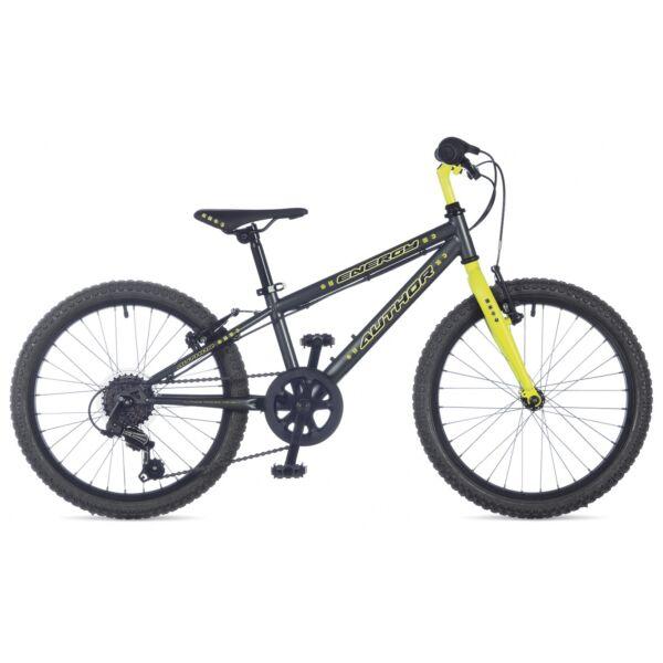 """Energy fiú 20"""" gyerekkerékpár, matt szürke/matt neonsárga - AUTHOR"""