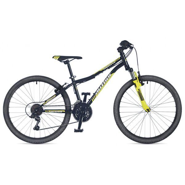 """Matrix 24"""" gyerekkerékpár, matt fekete/neonsárga - AUTHOR"""