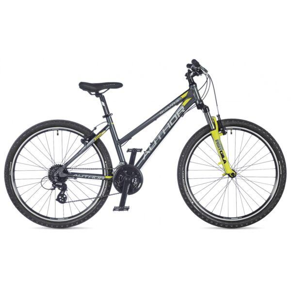 """Quanta női 26"""" MTB kerékpár, matt szürke/matt lime zöld - AUTHOR"""