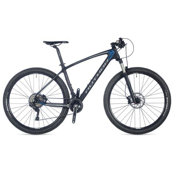 """Revolt 29"""" MTB kerékpár, carbon/azúrkék/matt ezüst/matt fekete - AUTHOR"""