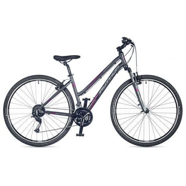 Integra női cross kerékpár, matt szürke/matt szürke - AUTHOR