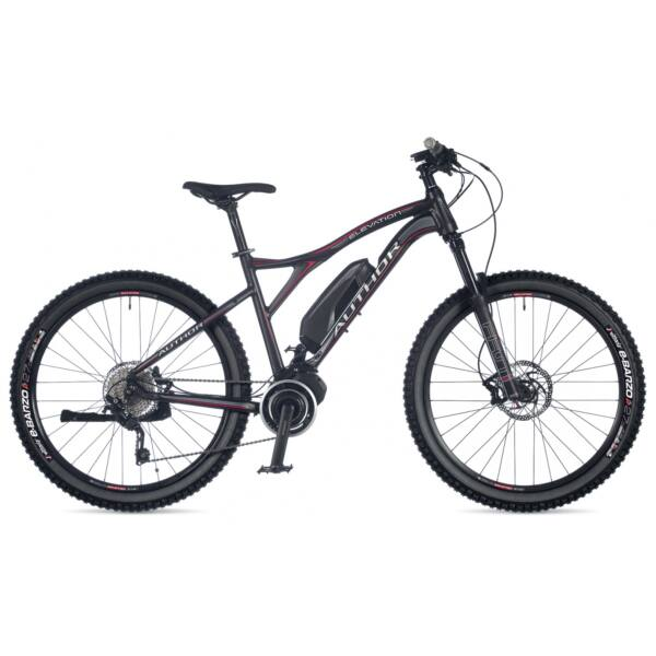 "Elevation 27,5"" MTB e-bike, matt fekete/matt fekete - AUTHOR"