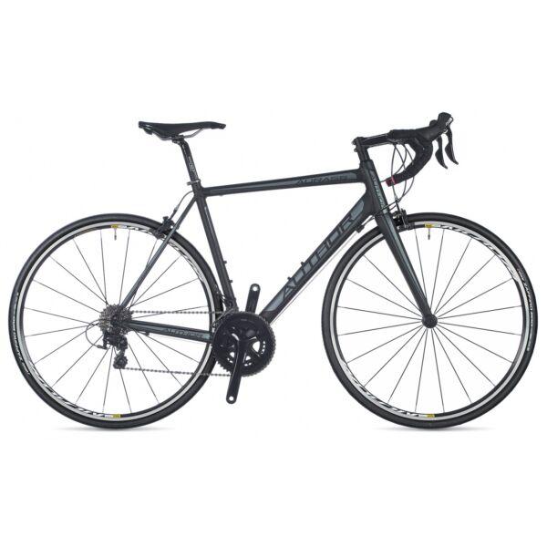 Aura 55 országúti kerékpár, matt fekete/ezüst/matt fekete - AUTHOR