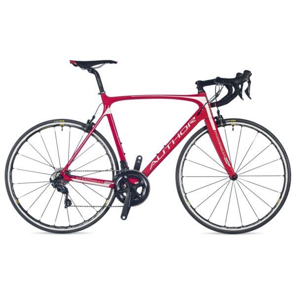 Charisma 66 országúti kerékpár, piros/fehér/piros - AUTHOR
