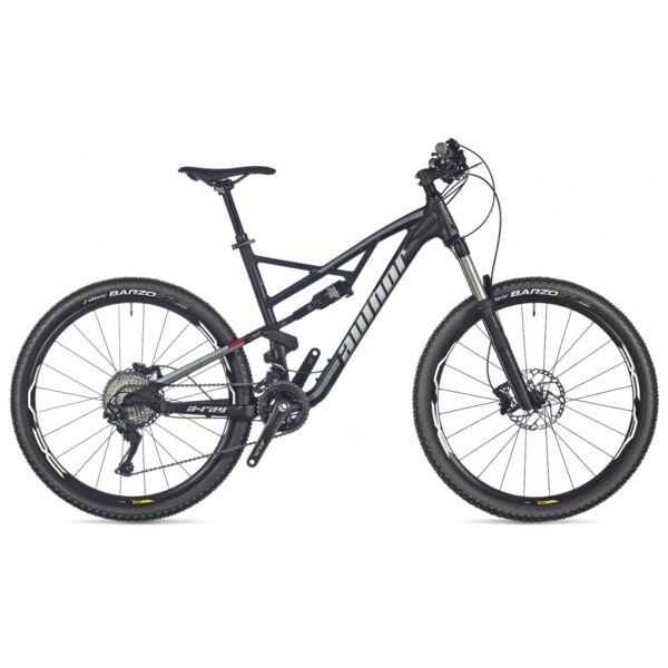 """A-Ray 27,5"""" FSX kerékpár, matt fekete/piros/matt fekete - AUTHOR"""