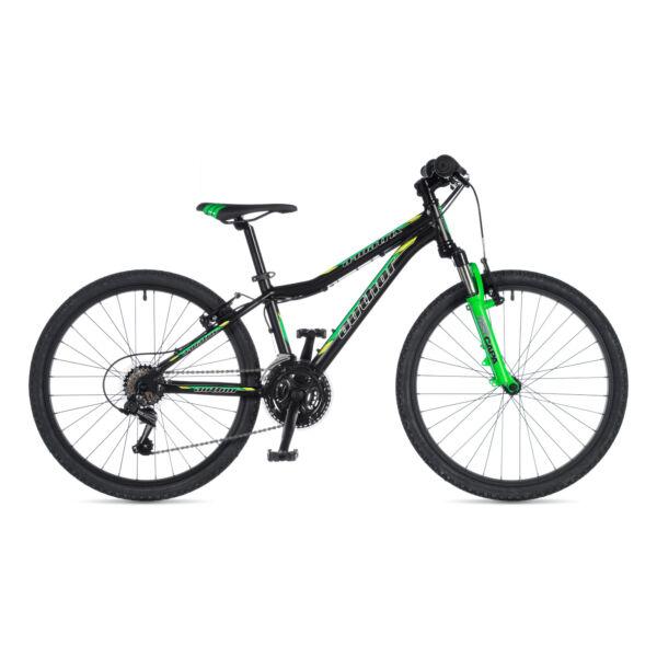 """A-Matrix fiú 24"""" gyerek kerékpár, matt fekete / neon zöld - AUTHOR"""