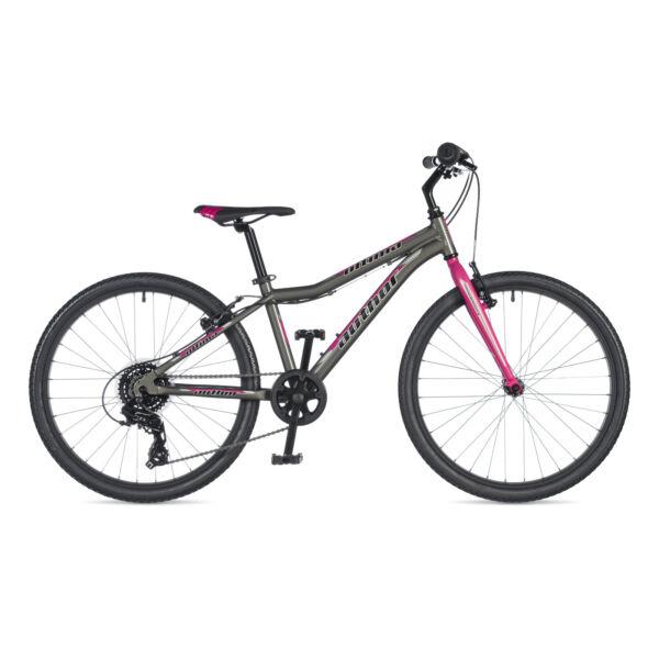 """Ultima lány 24"""" gyerek kerékpár, ezüst / rózsaszín - AUTHOR"""