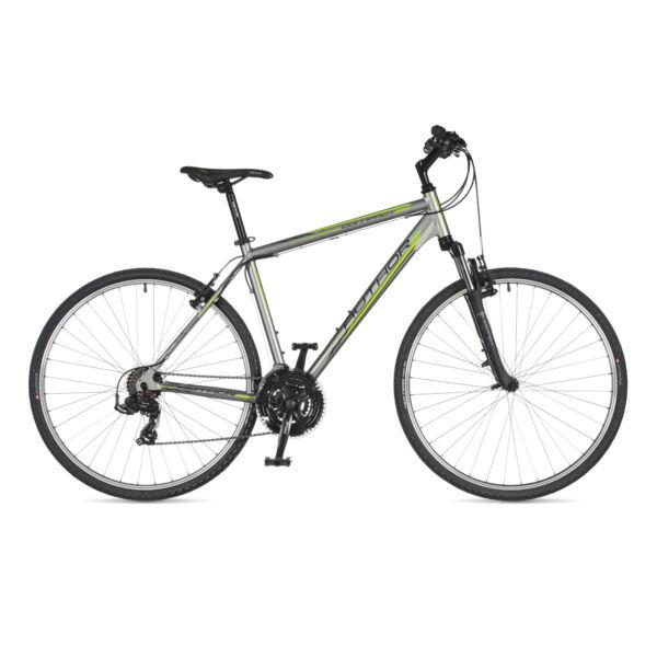 Compact férfi CROSS kerékpár, matt ezüst / matt fekete - AUTHOR
