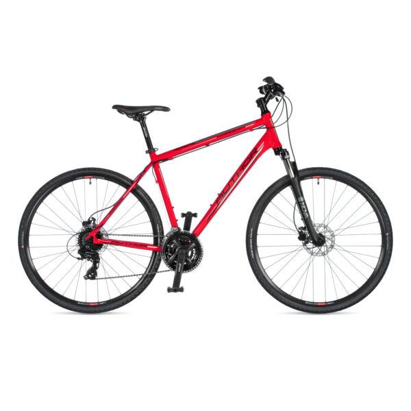Horizon férfi CROSS kerékpár, piros / fekete - AUTHOR