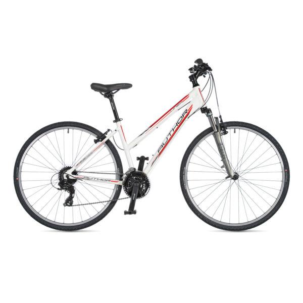 Linea női CROSS kerékpár, fehér / ezüst - AUTHOR