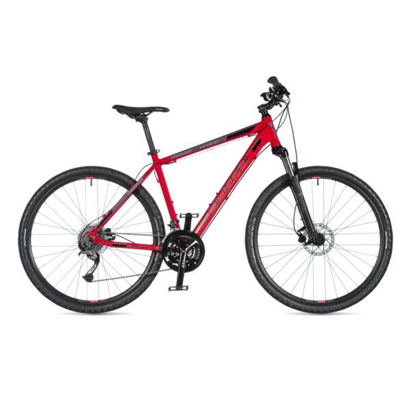 Grand férfi CROSS kerékpár, piros / fekete - AUTHOR