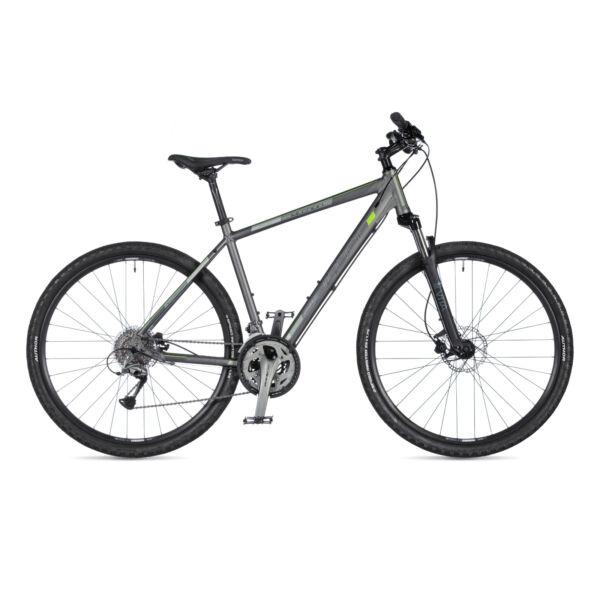 Mission férfi CROSS kerékpár, matt ezüst / matt fekete - AUTHOR