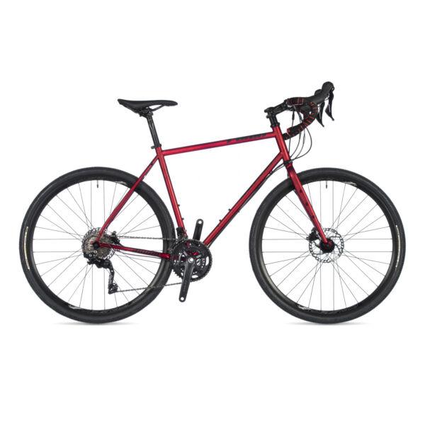 Ronin DISC gravel kerékpár, (chromoly váz) mélyvörös / mélyvörös - AUTHOR