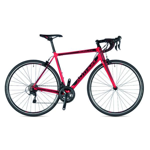 Aura 44 országúti kerékpár, piros/piros - AUTHOR