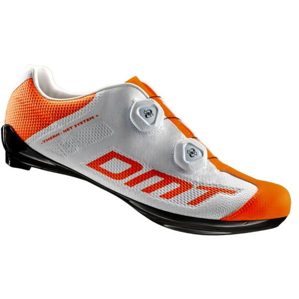 R1 SUMMER országúti kerékpáros cipő nyári, fehér/fluorit narancs - DMT