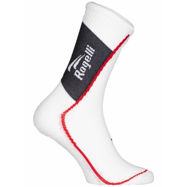 Středně silné funkční ponožky s mírnou kompresí Rogelli THERMOCOOL, bílé
