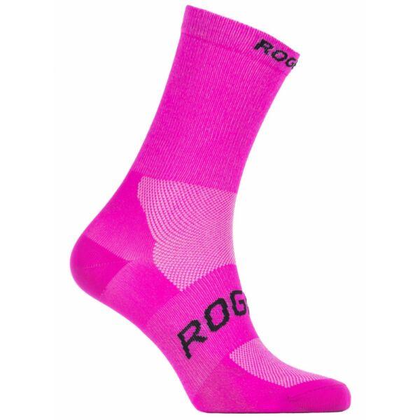 Antibakteriální ponožky Rogelli SUNSHINE 08 s mírnou kompresí, růžové