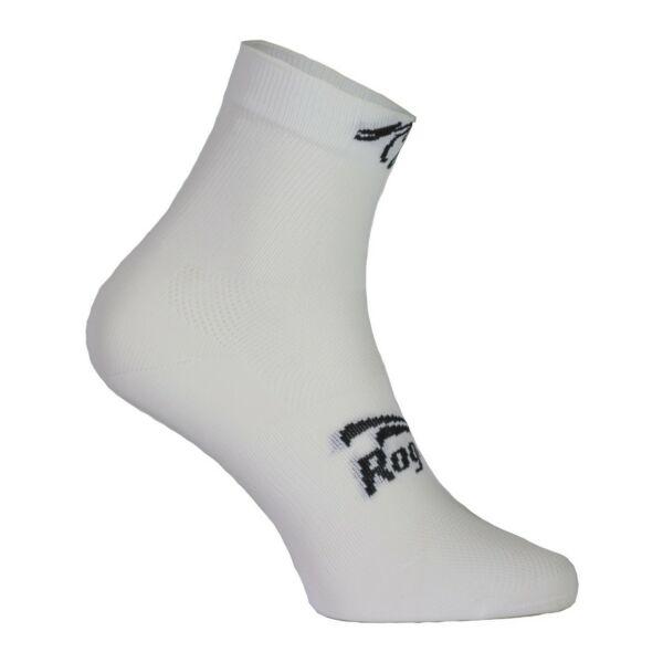 Dámské antibakteriální funkční ponožky Rogelli Q-SKIN s bezešvou patou, bílé