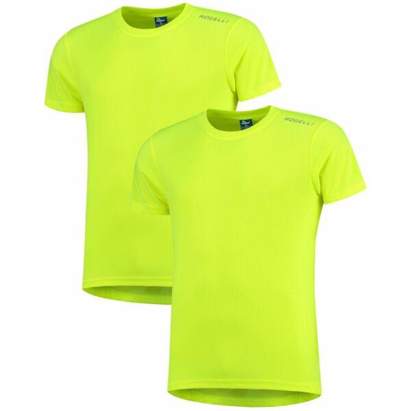 Funkční tričko Rogelli PROMOTION, 2 ks - reflexní žluté, různé velikosti