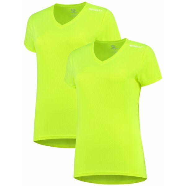 Dámská funkční trička Rogelli PROMOTION LADY - 2 ks různé velikosti, reflexní žluté