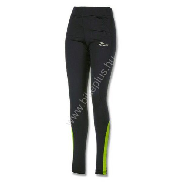 Emna női futó téli hosszúnadrág, fekete/fluorit - ROGELLI