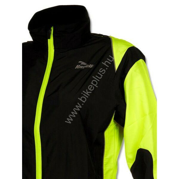 Elvi női futó szélkabát, fekete/fluorit - ROGELLI