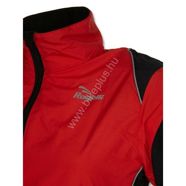 Elvi női futó szélkabát, piros/fekete - ROGELLI