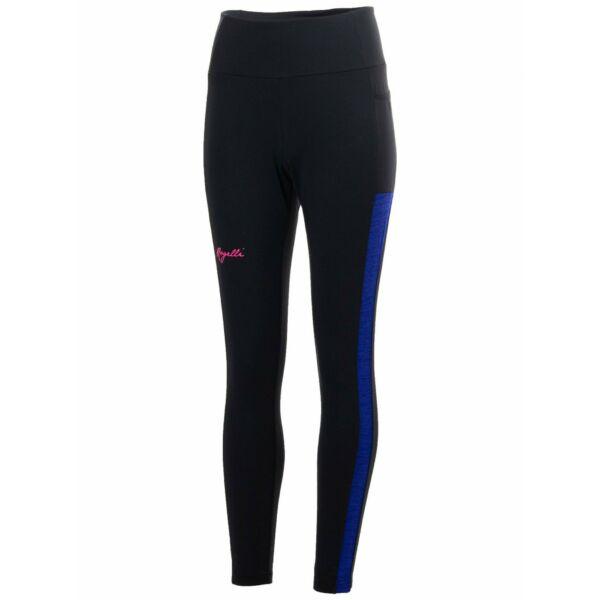Dámské běžecké kalhoty Rogelli COSMIC se zateplením, černo-modro-růžová