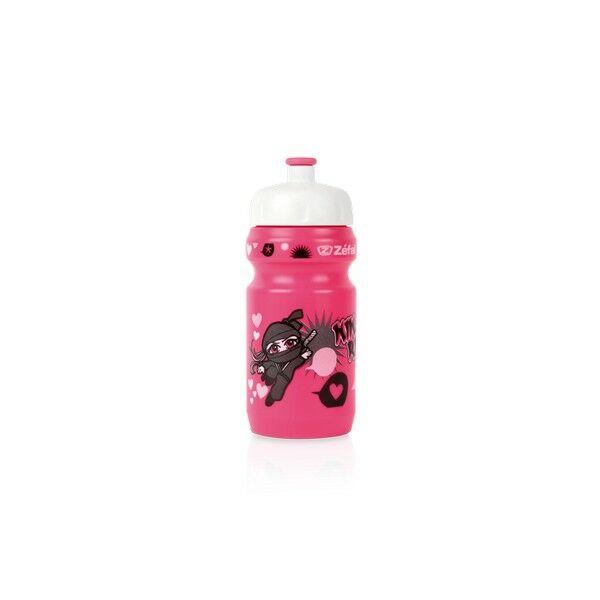Kulacs LITTLE-Z NINJA GIRL gyerek kulacs univerzális tartóval 350 ml, rózsaszín - ZEFAL