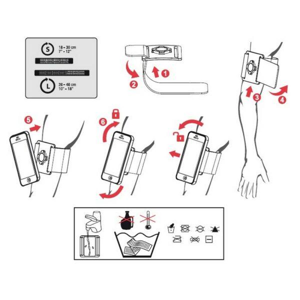 Z ARMBAND MOUNT okostelefon tartó konzol karra, fekete - ZEFAL