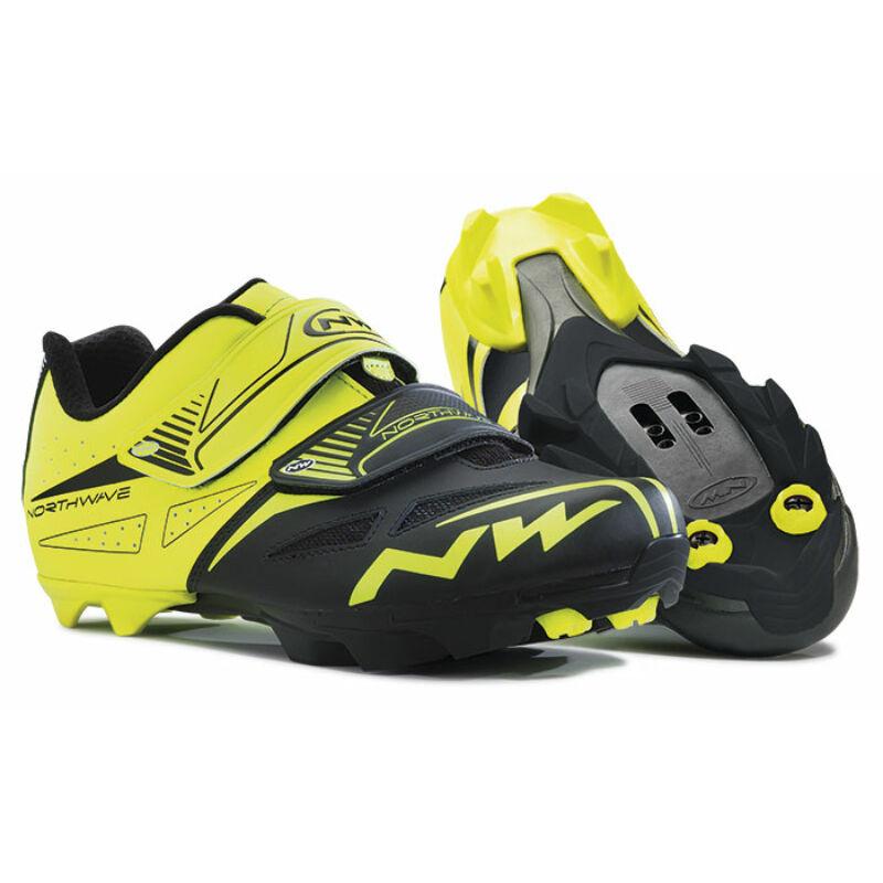 Cipő NORTHWAVE MTB SPIKE EVO 44,5 sárga fluo-fekete